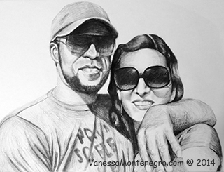 black and white portrait commission