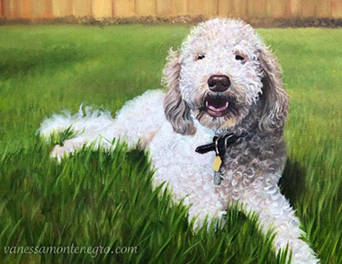 Dog Portrait Painting Commision
