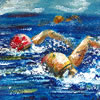 swimmer's painting